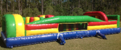 35-foot backyard inflatable obstacle course in St Augustine, FL
