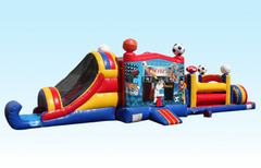 49-Foot sports combo inflatable obstacle course in St Augustine, FL