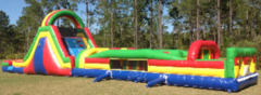 65-Foot rainbow inflatable obstacle course in St Augustine, FL