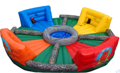 Human Hungry Hippos inflatable party game rental in St Augustine