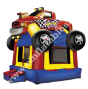 Monster Truck Rainbow Castle bounce house rental in St Augustine, FL