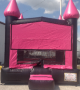 Neon pink black bouncer bounce house rental in St Augustine, FL