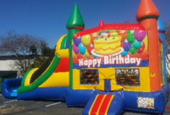 Rainbow Happy Birthday Combo Wet Slip-n-Slide in St Augustine, FL