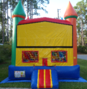 Rainbow Module Castle bounce house rental in St Augustine, FL
