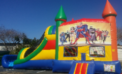 Rainbow Super Hero Combo Wet Slip-n-Slide in St Augustine, FL