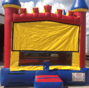 Red Blue Yellow castle bouncer bounce house rental in St Augustine, FL